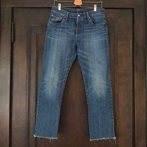 Levi's 501 Jeans with Button Fly, Raw Hem
